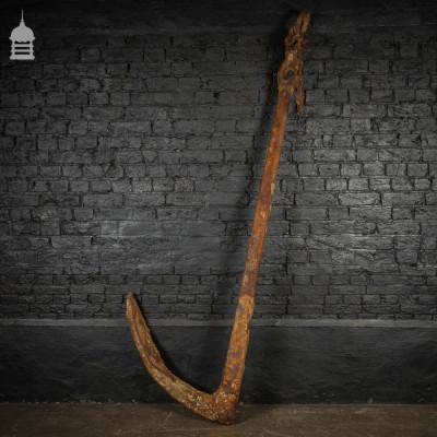 Large 19th C Single Fluke Iron Anchor