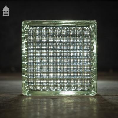 Batch of 380 Reclaimed Retro Glass Blocks Bricks