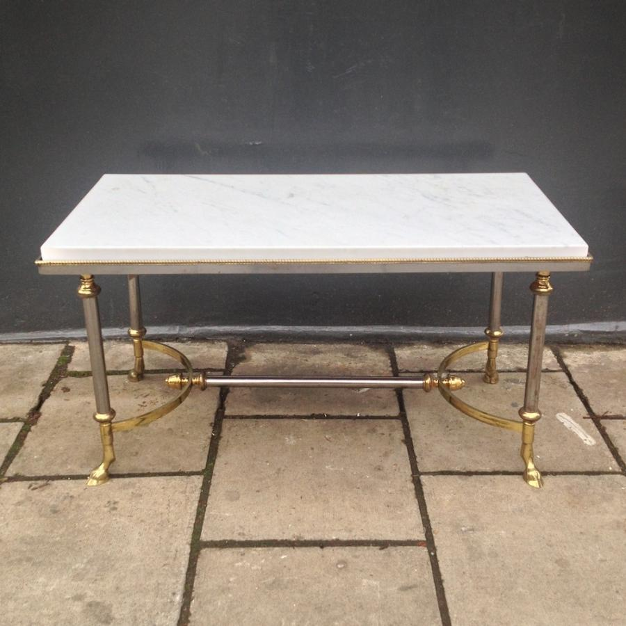 marble and brass coffee table. Marble And Brass Coffee Table