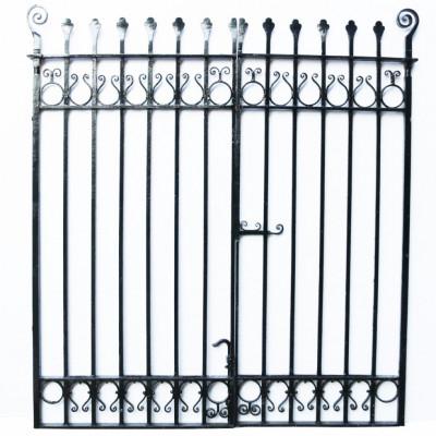 Pair Of Antique Wrought Iron Gates