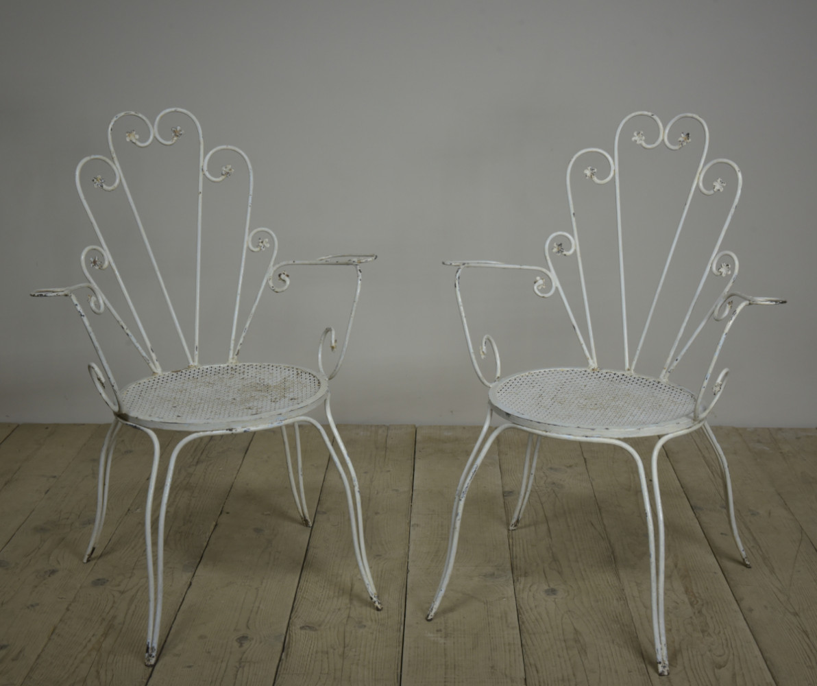 Pair Wirework Armchairs 1950s
