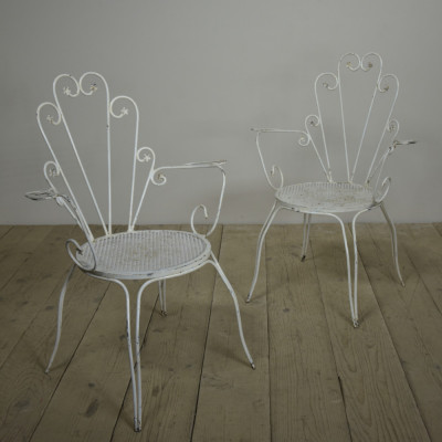 Pair Wirework Armchairs 1950s