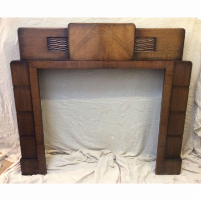 1934 Wooden Fireplace
