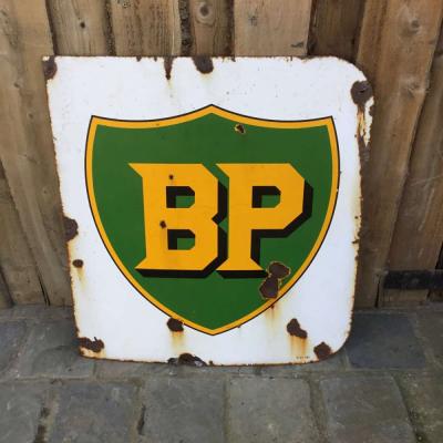 Vintage BP Enamel Advertising Sign