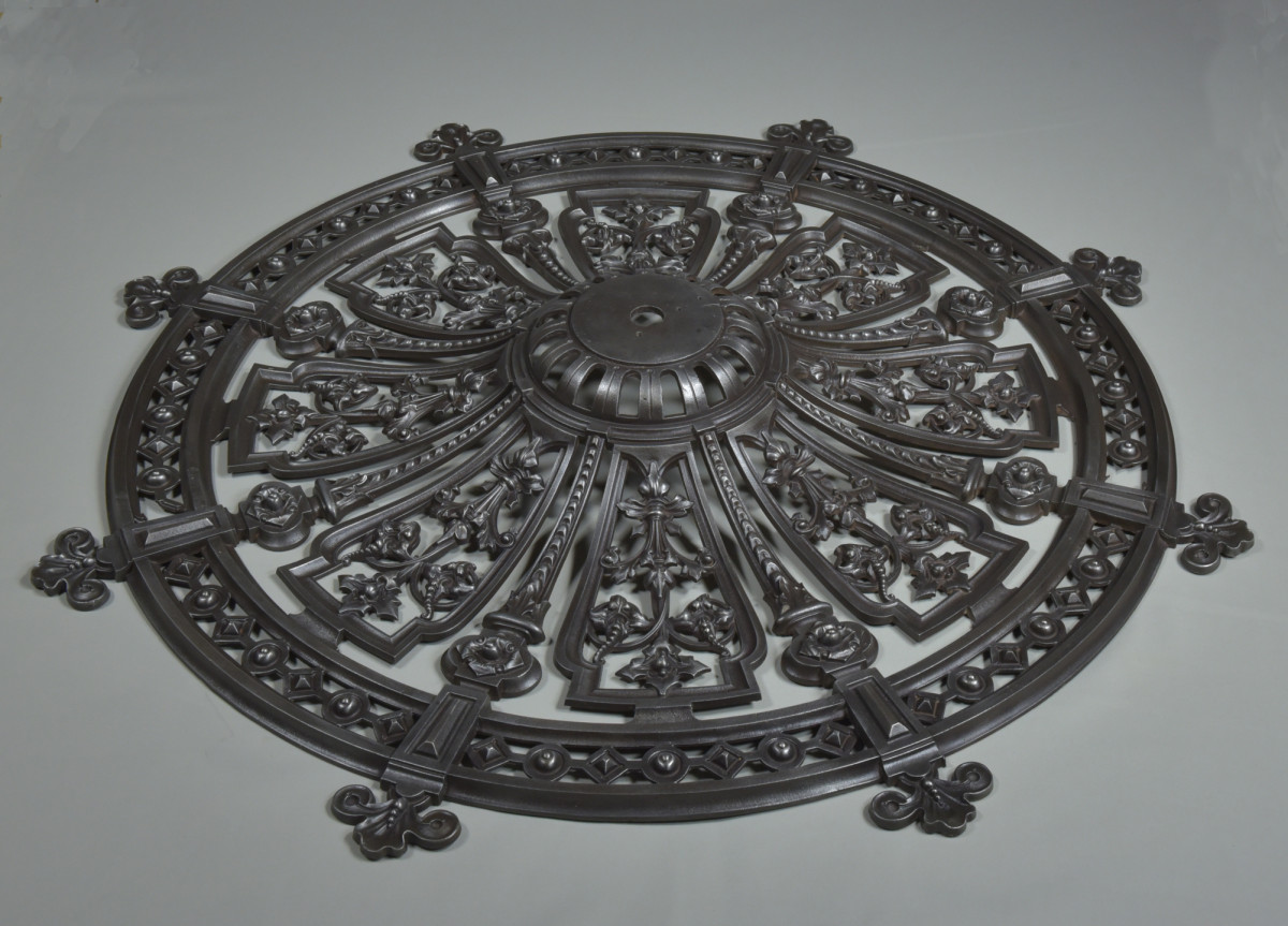 Cast Iron Ceiling Rose 1870