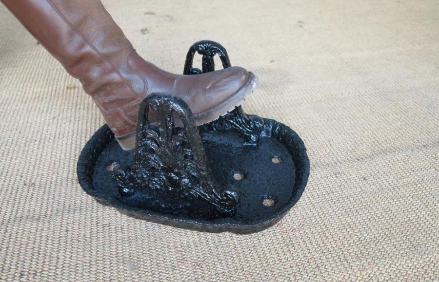 Large Cast Iron Boot Scraper