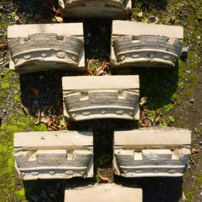 Reclaimed Carved Crown Bricks