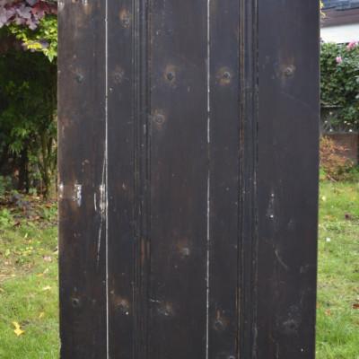 Antique Pitch-Pine Plank Ledge & Brace Door