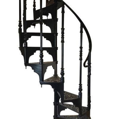 Reclaimed Black Cast Metal Spiral Staircase By Cottage Craft Spirals