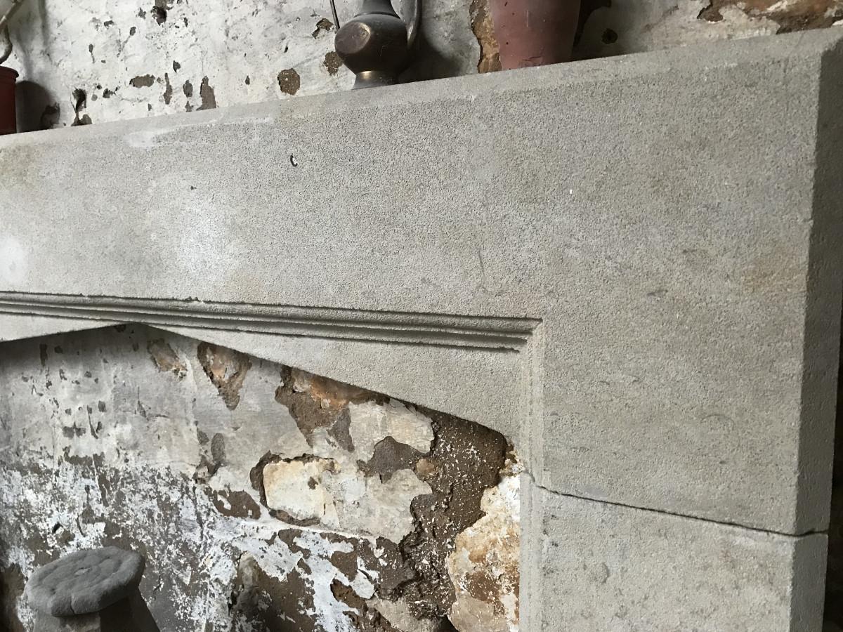 Reclaimed Bath Stone Fireplace