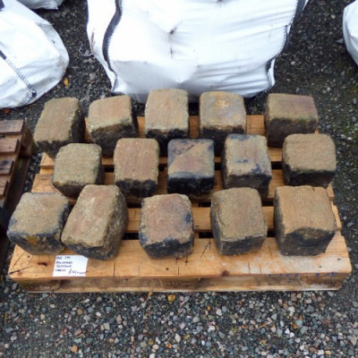 Reclaimed Gritstone Cobbles 7""