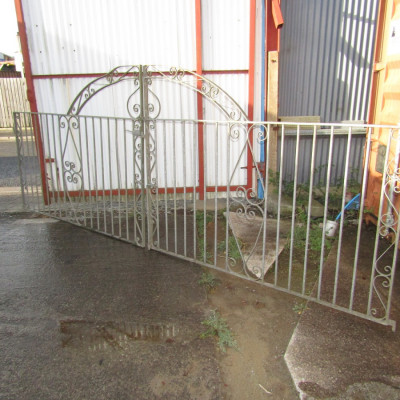 Galvanised Double Gates - over 14ft wide.