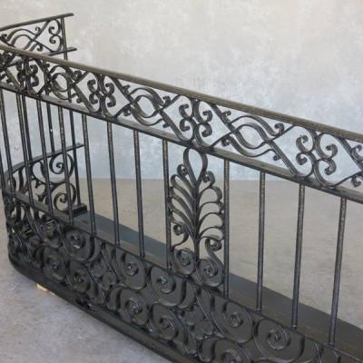 Antique Reclaimed Black Wrought Iron Juliet Balcony