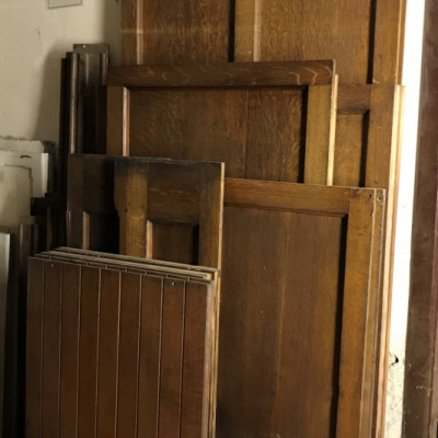Reclaimed Quarter Sawn Oak Paneling