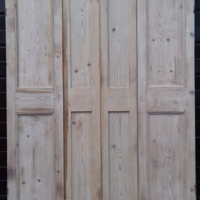 A pair of 19th century pine window shutters.