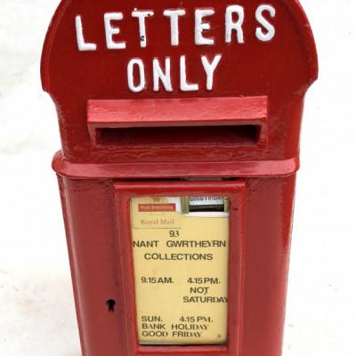 Genuine Antique Original Edward VII Hovis Top Post Box Lamp Post Box