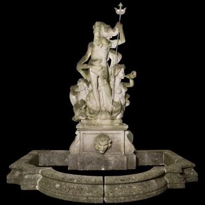 Spectacular Portand Stone Neptiune / Poseidon Statuary Fountain