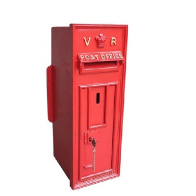 Royal Mail Cast Iron Queen Victoria Wall Mounted Post Box