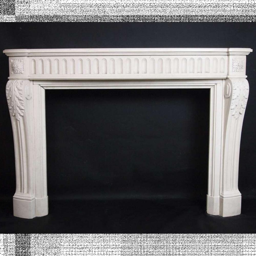 French Louis xvi Limestone fireplace