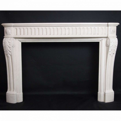 French Louis xvi Limestone fireplace