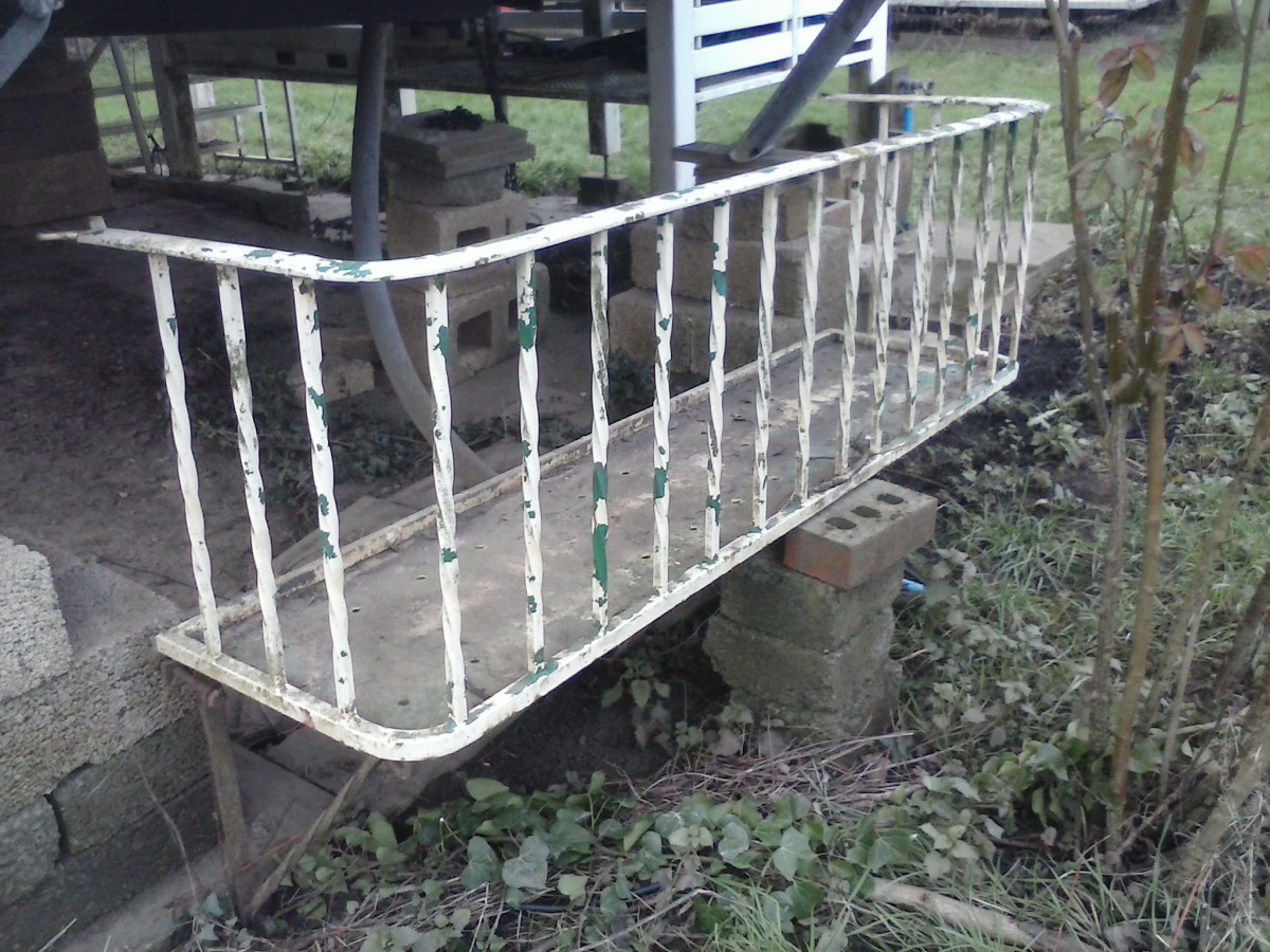 Antique Barley twist balcony