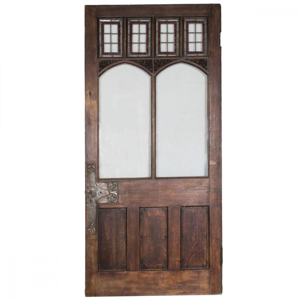Gothic Glazed Oak Door - 220CM X 105CM