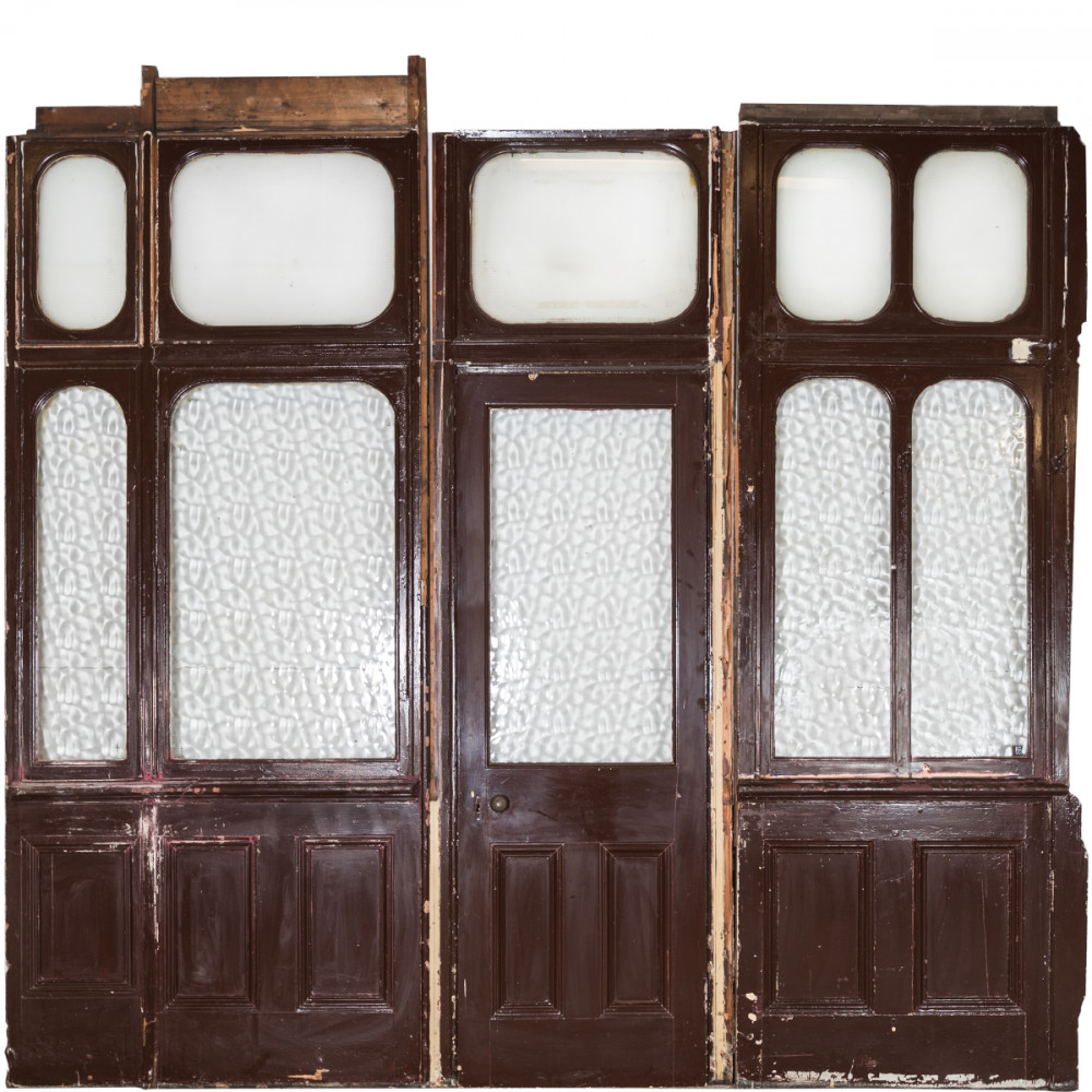 Antique Victorian Modular Glazed Room Divider