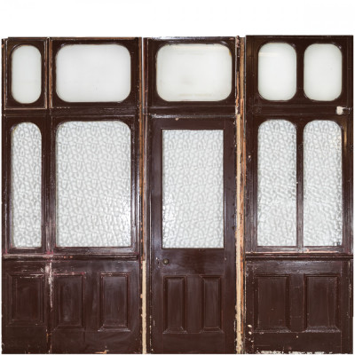 Antique Victorian Modular Glazed Room Divider