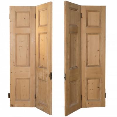Victorian Pine Room Divider Bi-Folding Doors - 202.5CM X 200CM