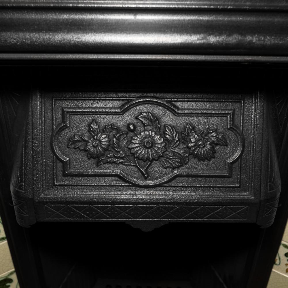 Edwardian Tiled Cast Iron Combination Insert
