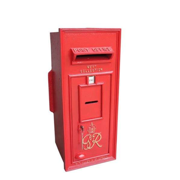 Cast Iron Original Red George 6th Wall Mounted Post Box