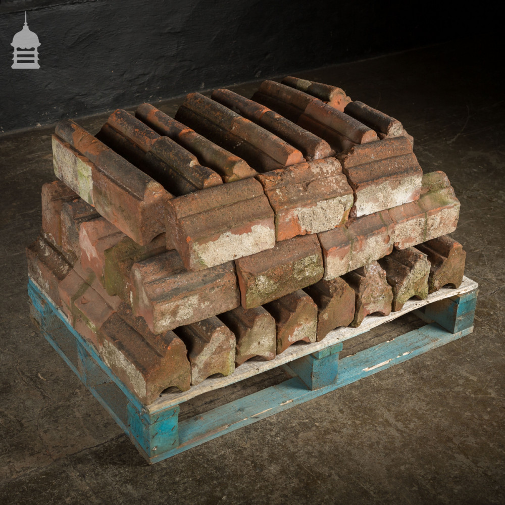 Batch of 60 Reclaimed Bullnose Red Brick Specials
