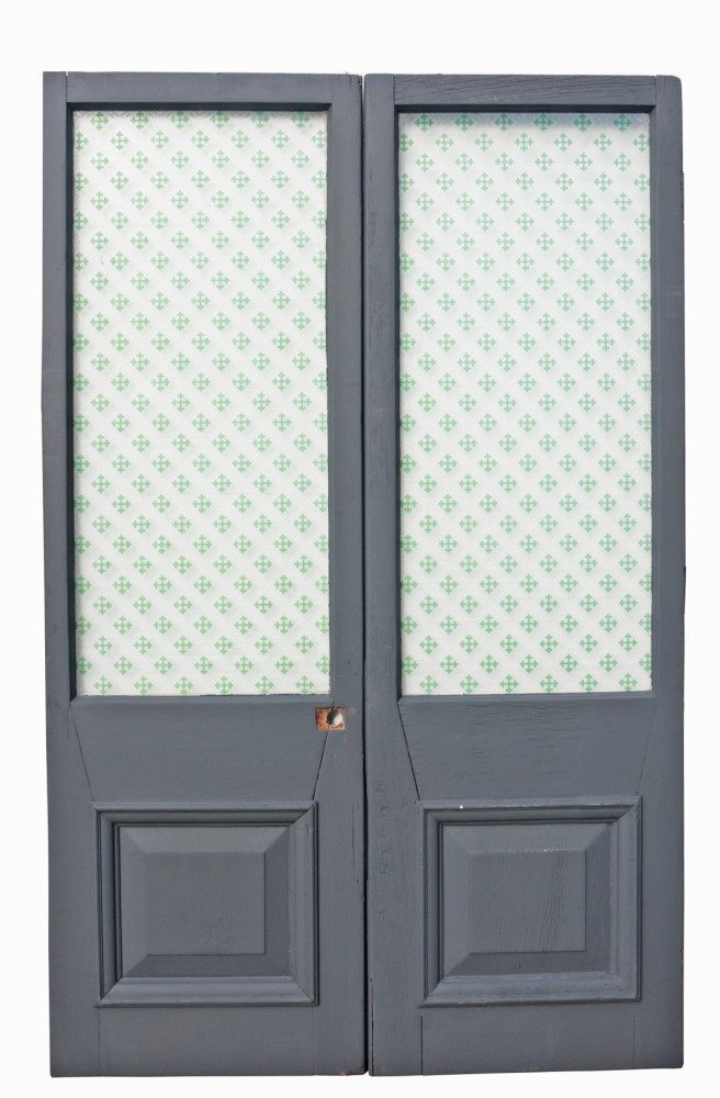 Pair Of Late 19th Century Mahogany Glazed Double Doors