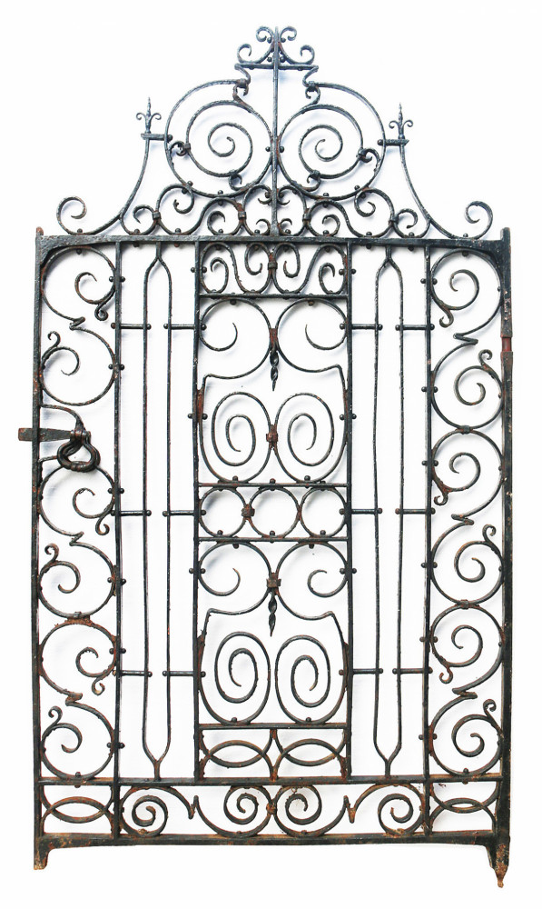 19th Century Wrought Iron Pedestrian Gate