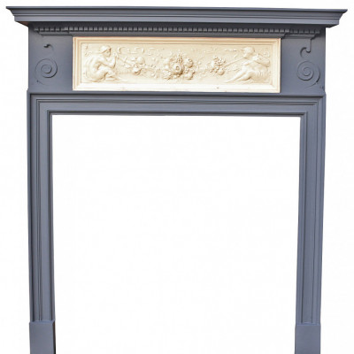 Late 19th Century Pine And Composition Fire Surround