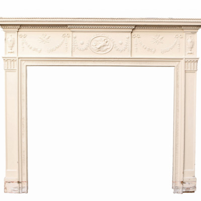 Early 19th Century Georgian Style Pine And Composition Fire Surround