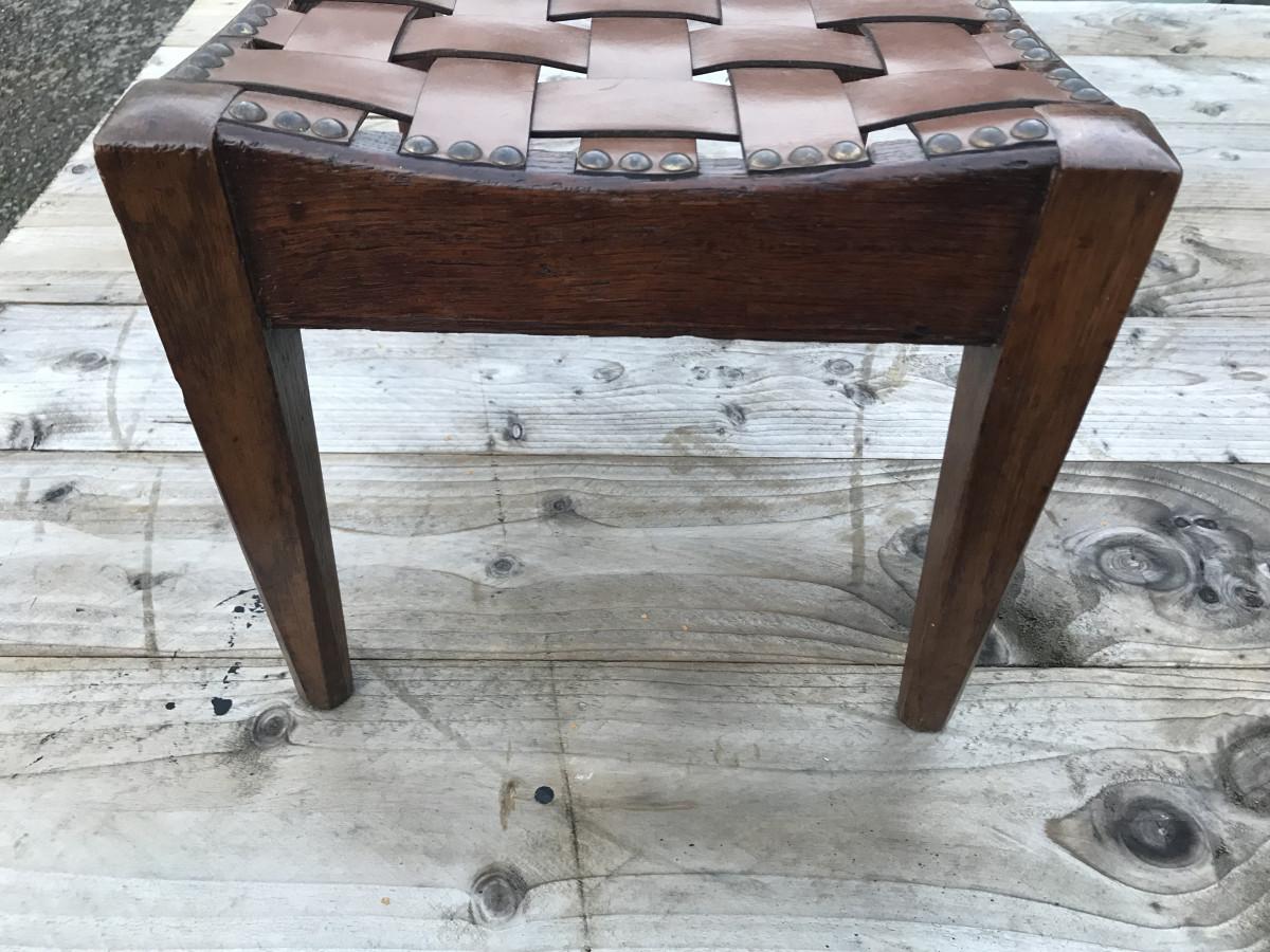 Arthur W Simpson Arts &Crafts Oak Stool