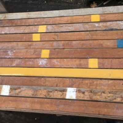Reclaimed hardwood strip flooring
