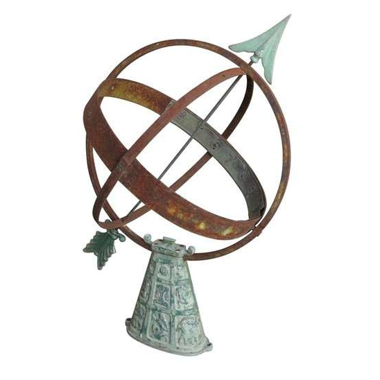 Antique Garden Outdoor Armilliary Sundial