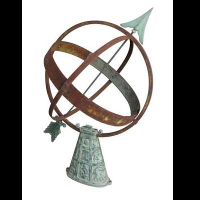 Reclaimed Antique Garden Outdoor Armilliary Sundial