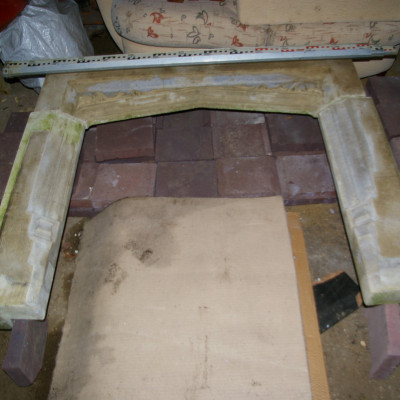 Stone victorian fire surround
