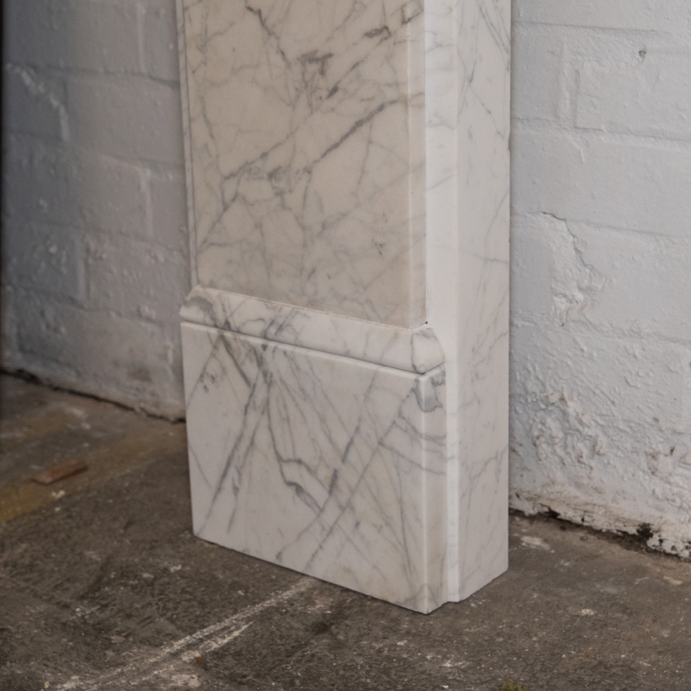 Antique Early Victorian Carrara Marble Fireplace Surrouns