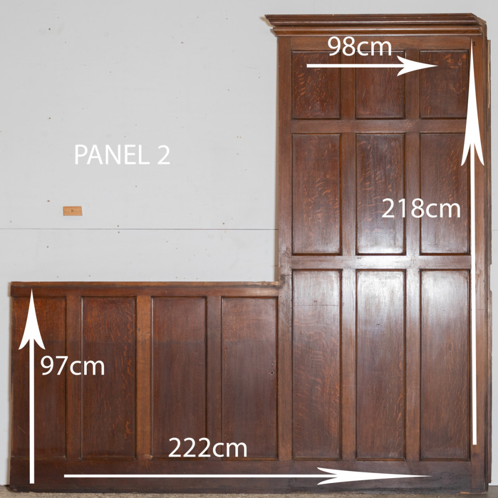 1920s Oak Panels, Oak Panelling (8 in total)