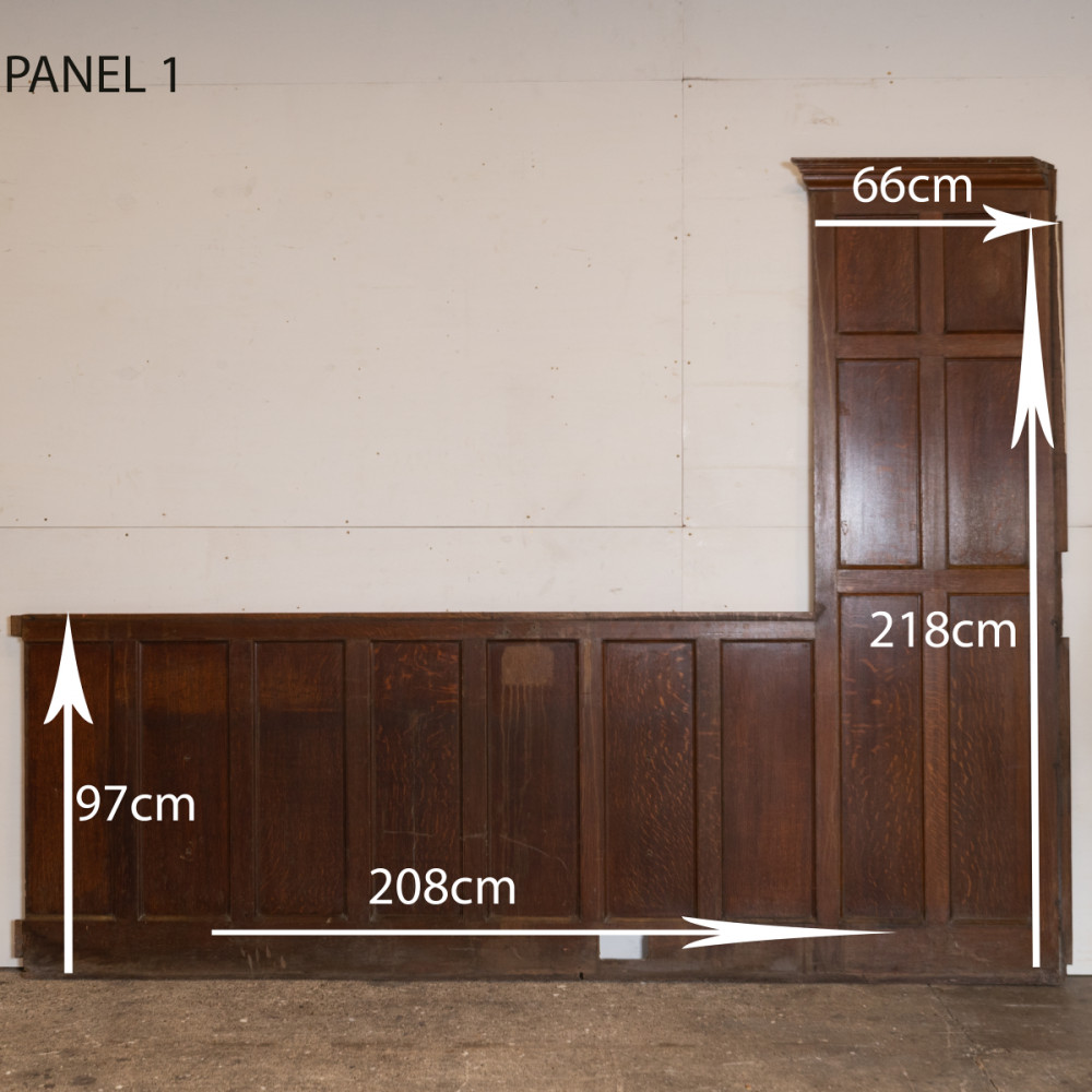 1920s Oak Panels, Oak Panelling (8 in total)