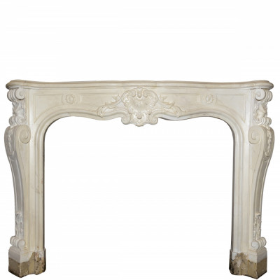 Antique Victorian Louis Style Pine Fireplace Surround