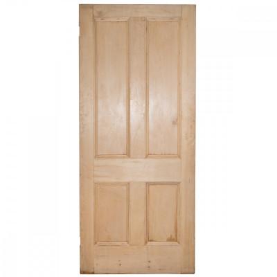 Solid Pine Four Panel Door Stripped - 212cm x 91.5cm