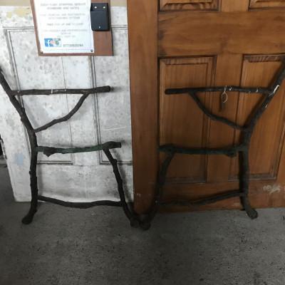 Falkirk Ironworks twig bench ends