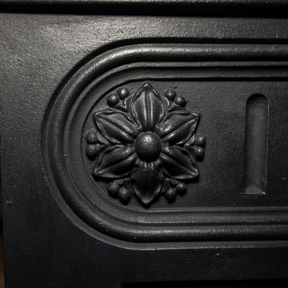 Antique Victorian Cast Iron Combination Fireplace