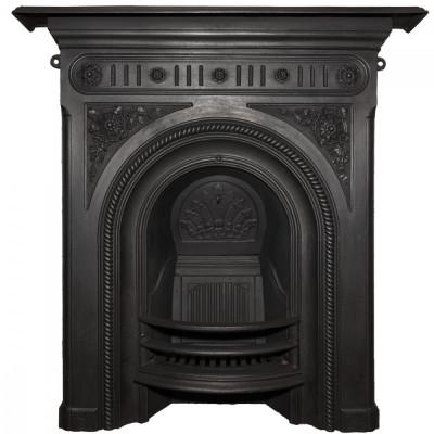 Antique Victorian Cast Iron Combination Fireplace