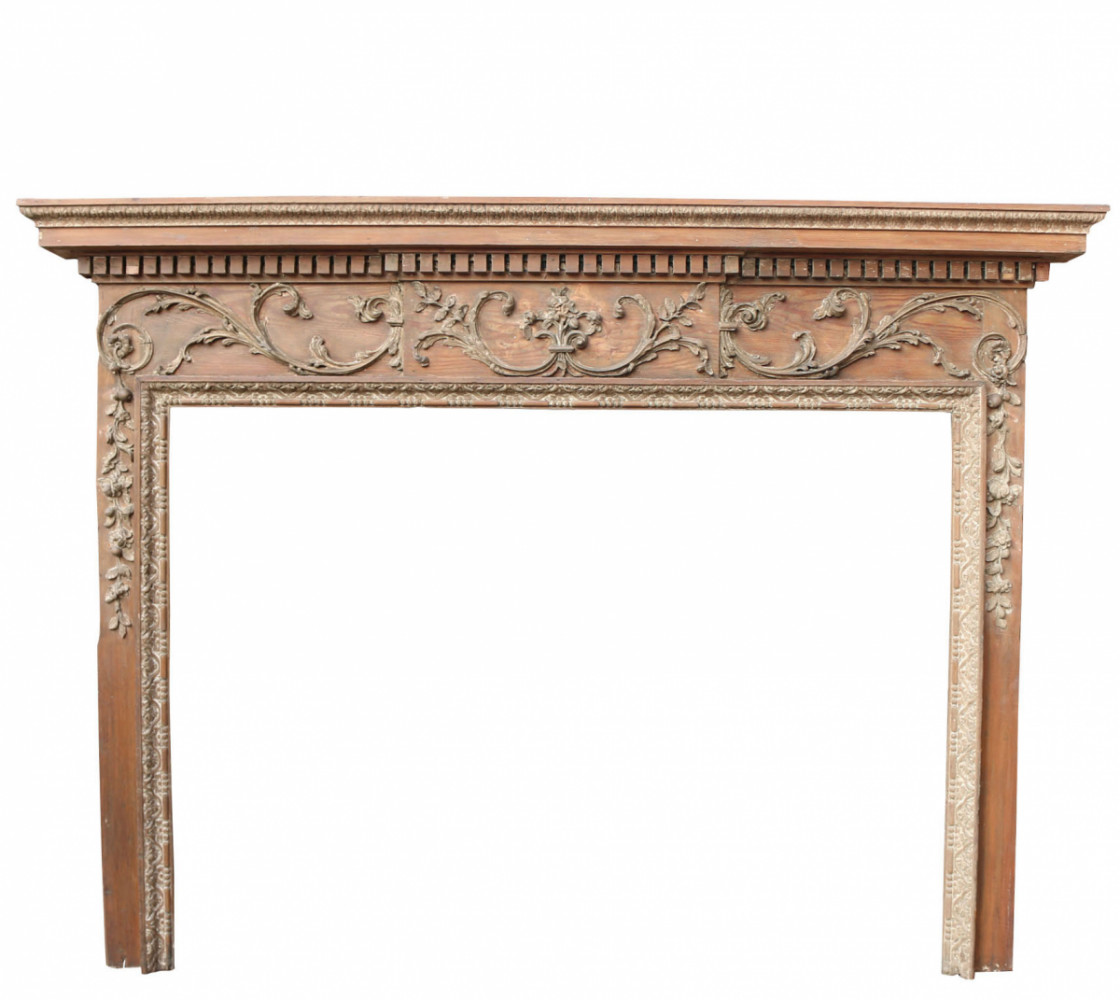 Home About Latest Items Delivery Contact Us Georgian Carved Pine Fire Surround
